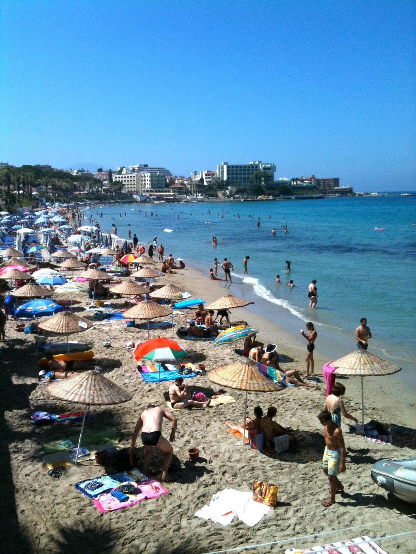 Пляж в кушадасы фото